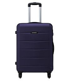 Safari Re-Gloss Anti Scratch Purple Small 4 Wheel Hard Luggage Trolley