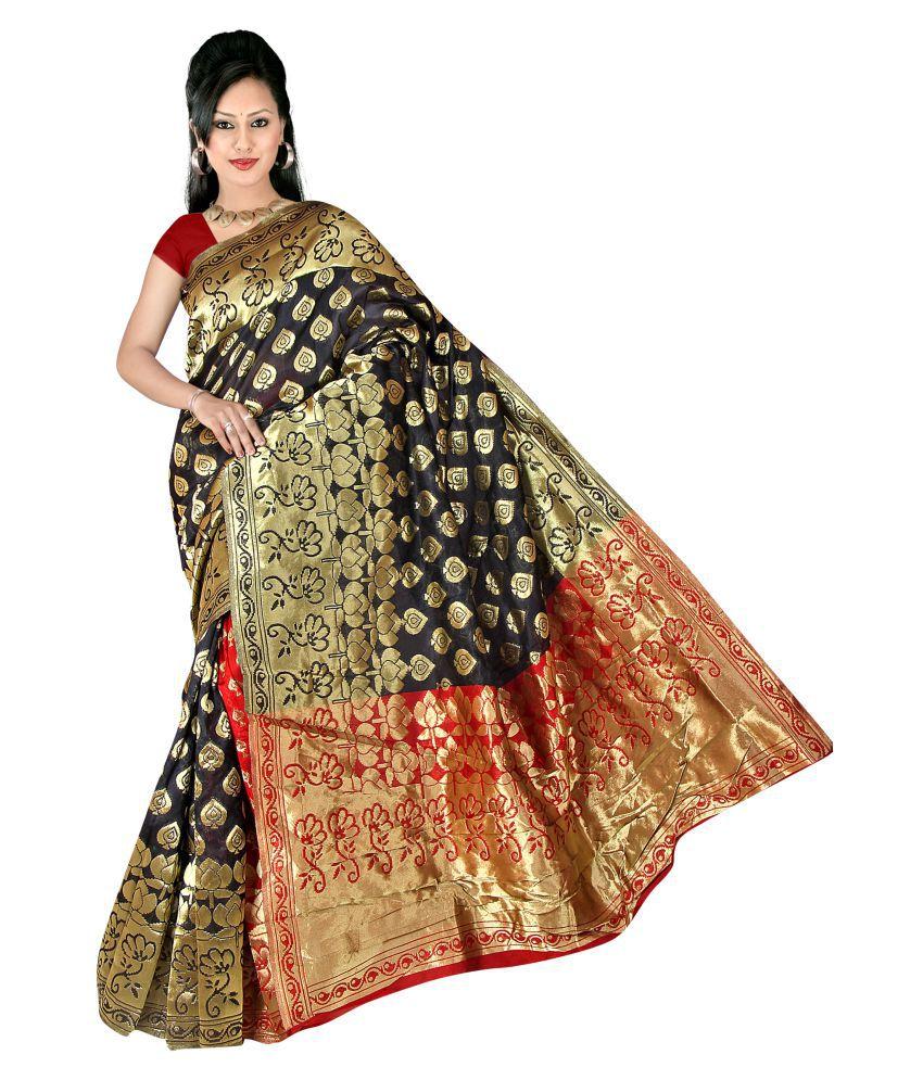 Panaah Black Silk Saree