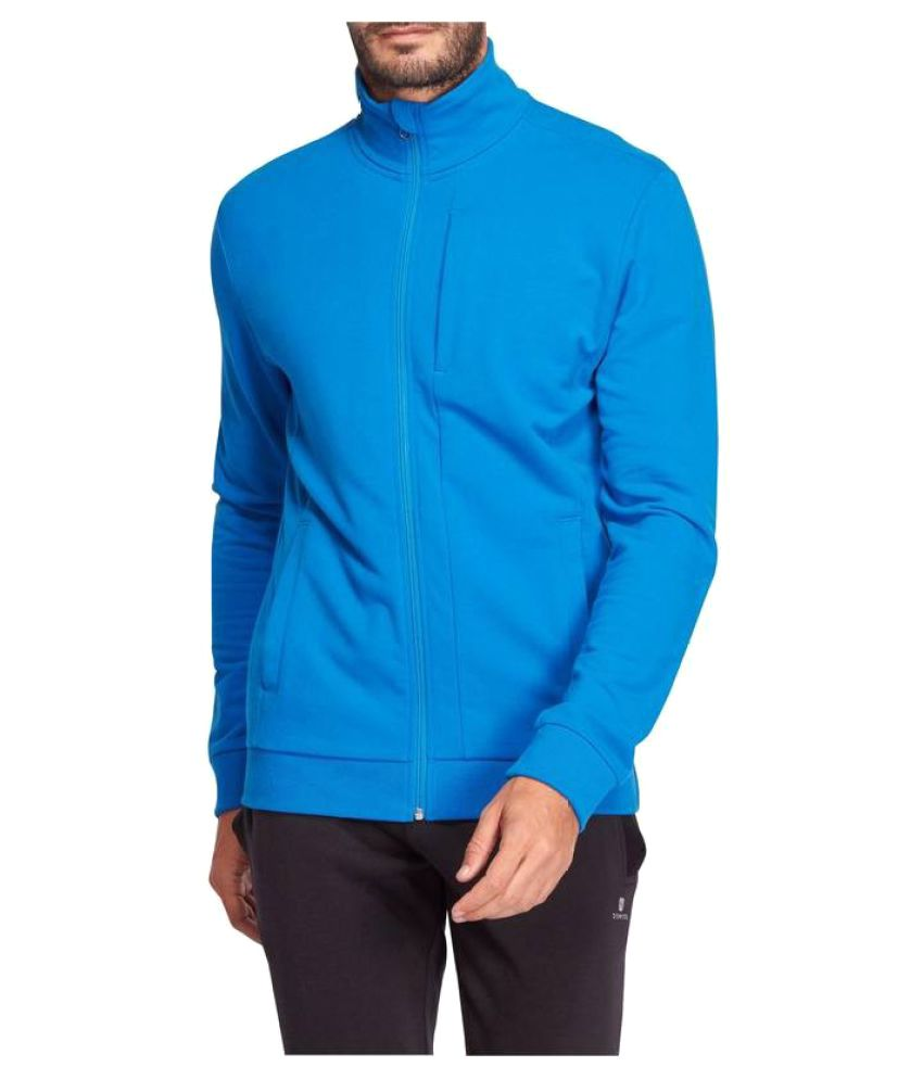 DOMYOS Plush Loop Men's Gym and Pilates Jacket