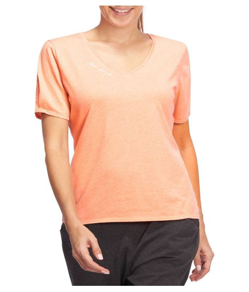 DOMYOS Women's Short Sleeved Gym and Pilates T-shirt