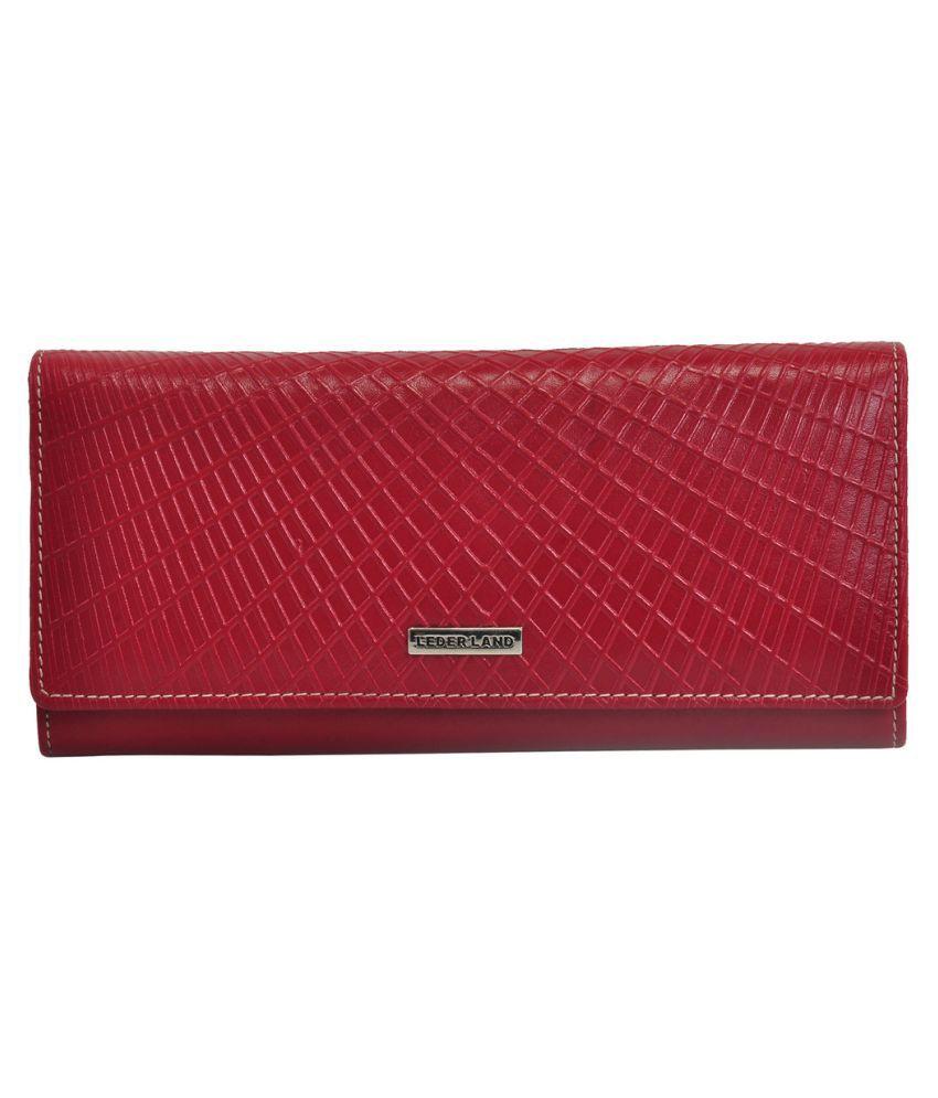 Leder Land Red Wallet