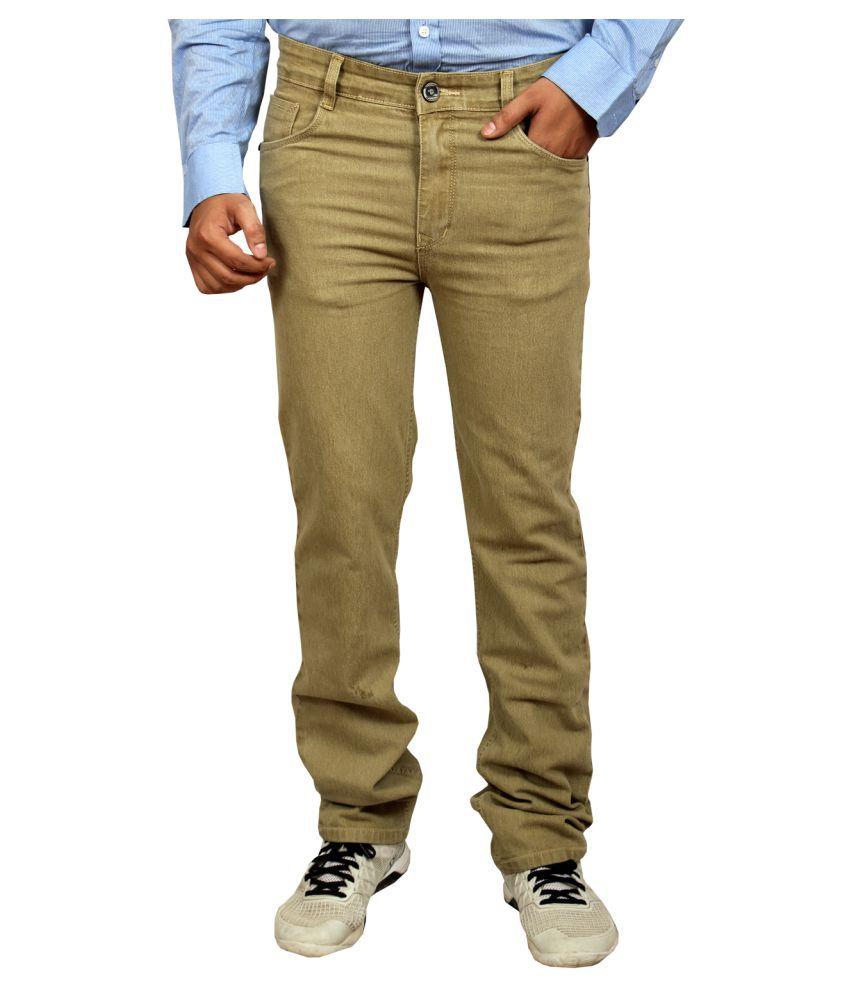 Allen Martin Beige Slim Jeans