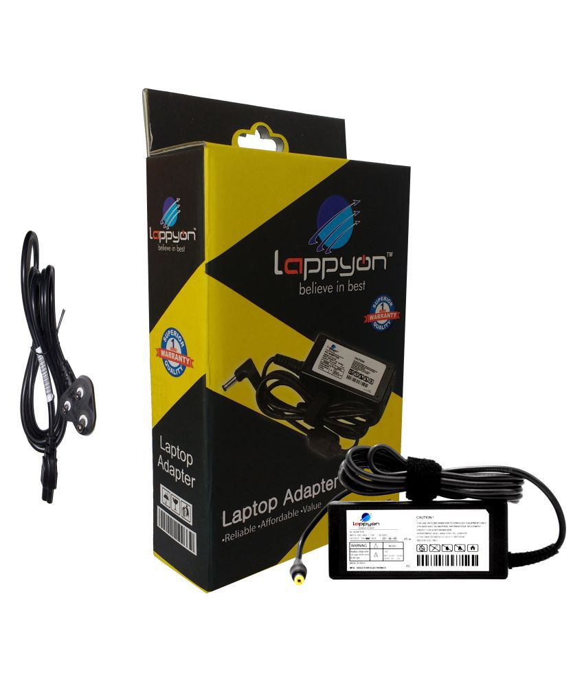 LappyOn Laptop adapter compatible For Acer ACER19V 3.42A 65W light weight Adapter,led light