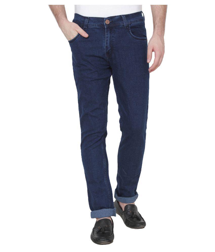 Xee Dark Blue Regular Fit Jeans