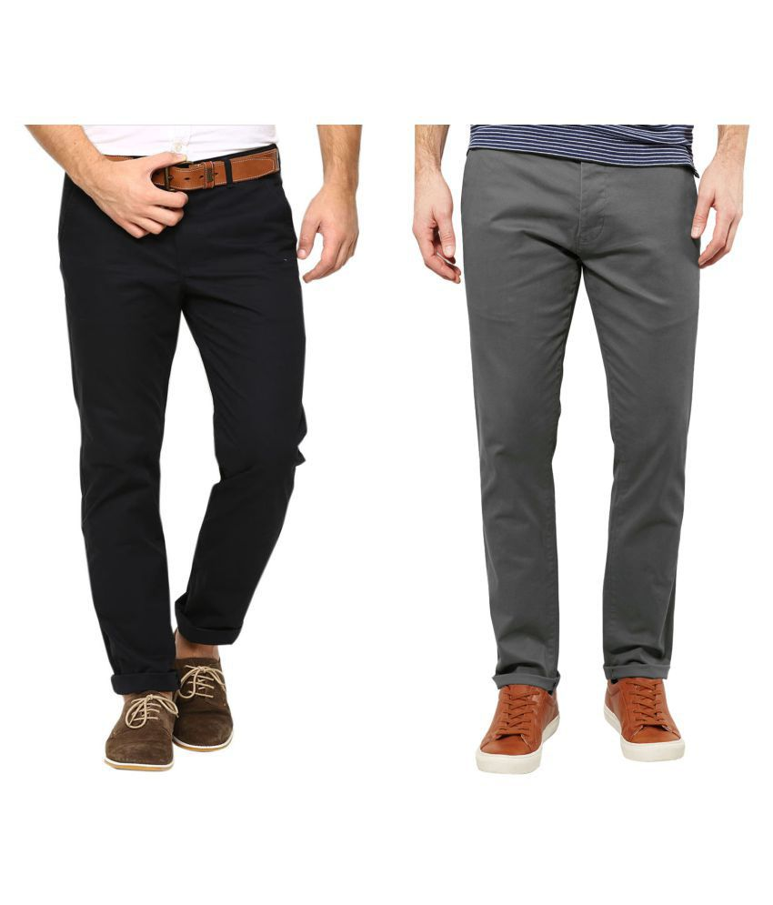 AD & AV Multi Regular -Fit Flat Chinos
