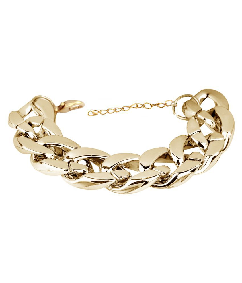STRIPES Presents Golden Colour party wear chain design anklets for Girls / Women (Single Piece light weight )