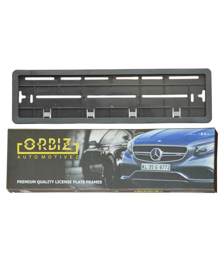 Orbiz Number Plate Frame Black: Buy Orbiz Number Plate Frame Black ...