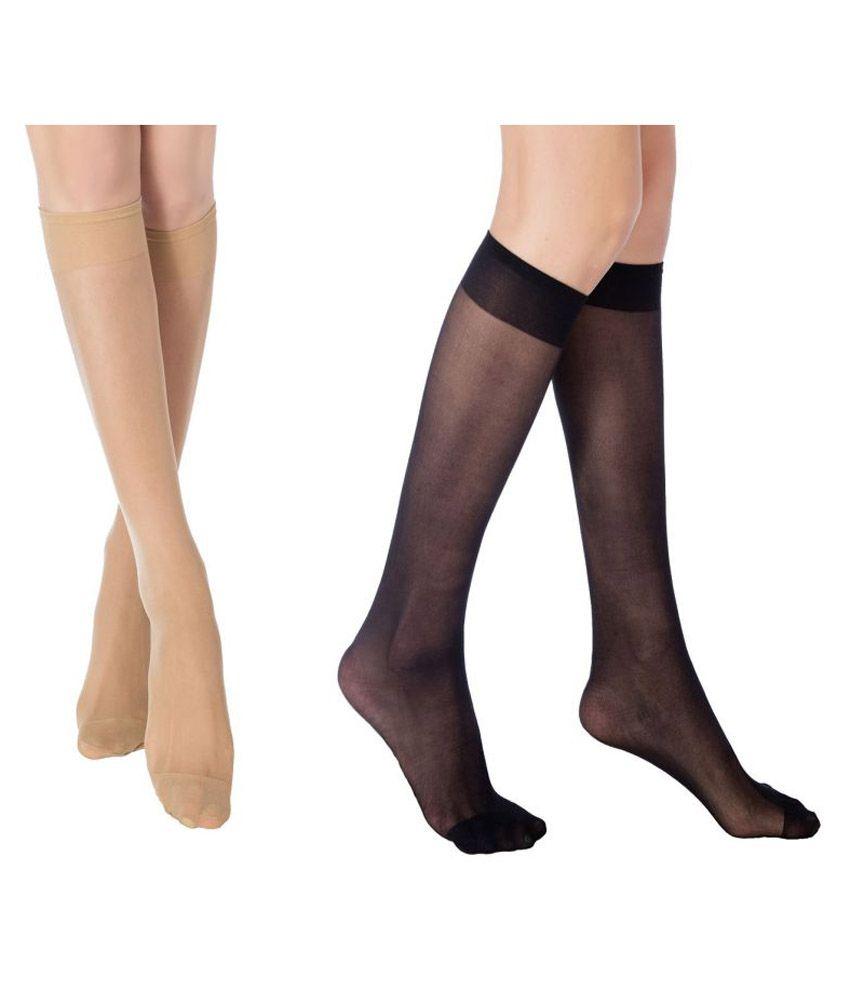 218c2a515 Women s 2 Pairs Ultra-Soft Knee High Socks (1 BLACK