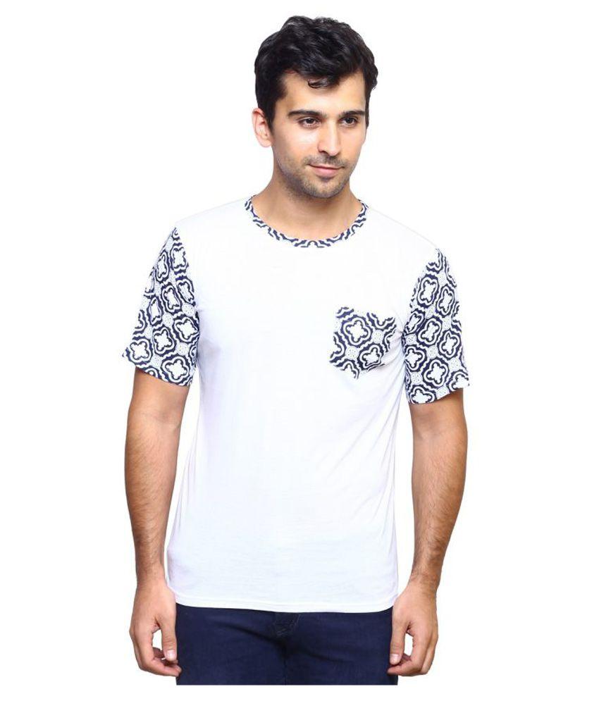 Laveeda White Round T-Shirt