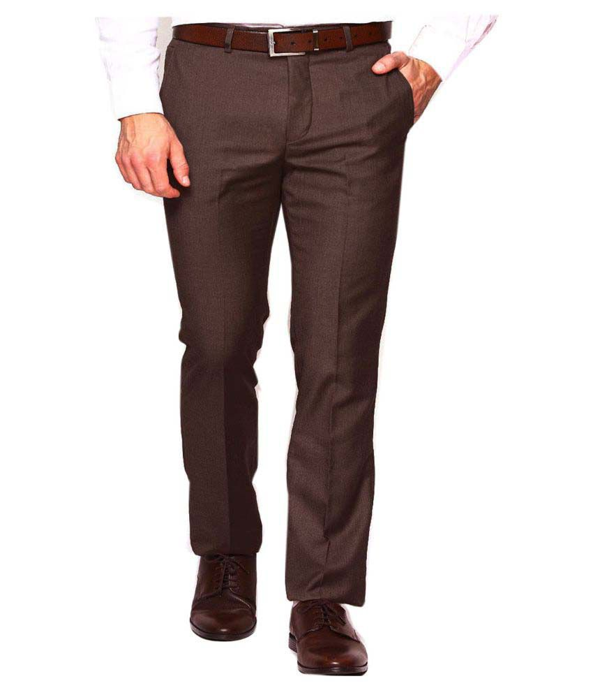 fbfbd36ad46b9d Ad & Av Coffee Regular -Fit Flat Trousers - Buy Ad & Av Coffee Regular -Fit  Flat Trousers Online at Low Price in India - Snapdeal