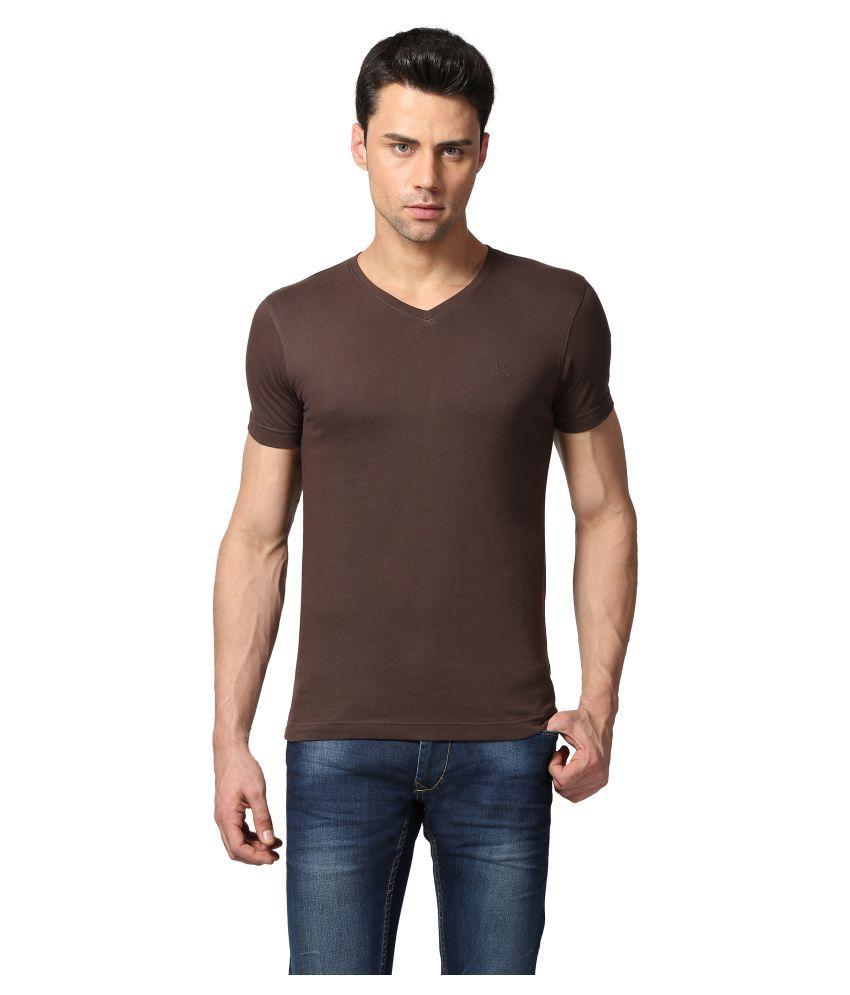 Goat Brown V-Neck T-Shirt
