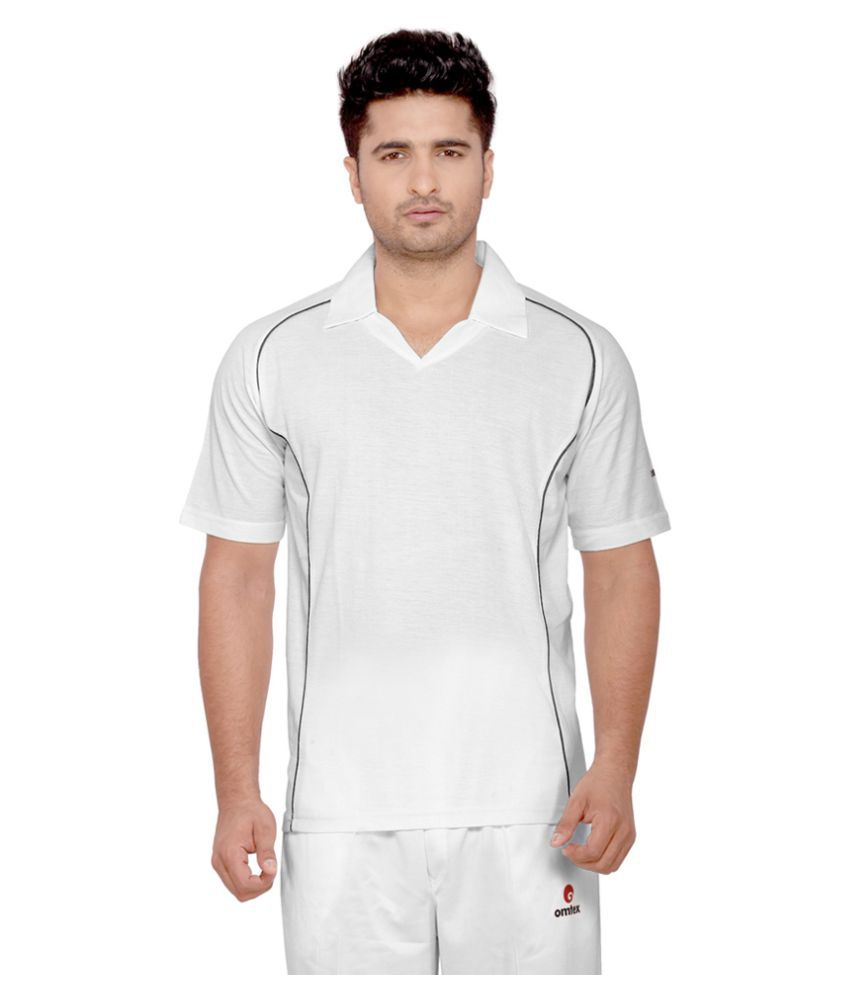 Omtex White Cotton Blend Polo T-Shirt Single Pack
