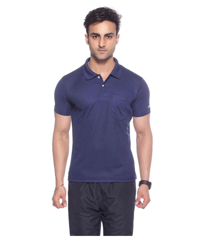 Sport Sun Navy Regular Fit Polo T Shirt