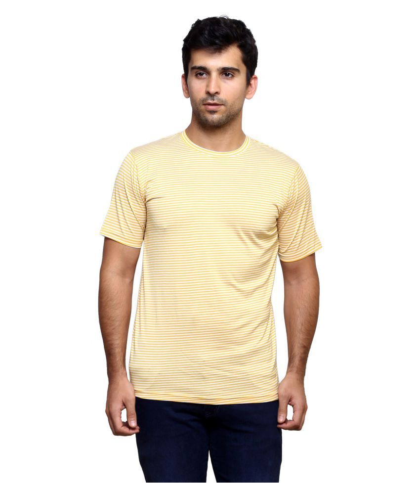 Laveeda Yellow Round T-Shirt