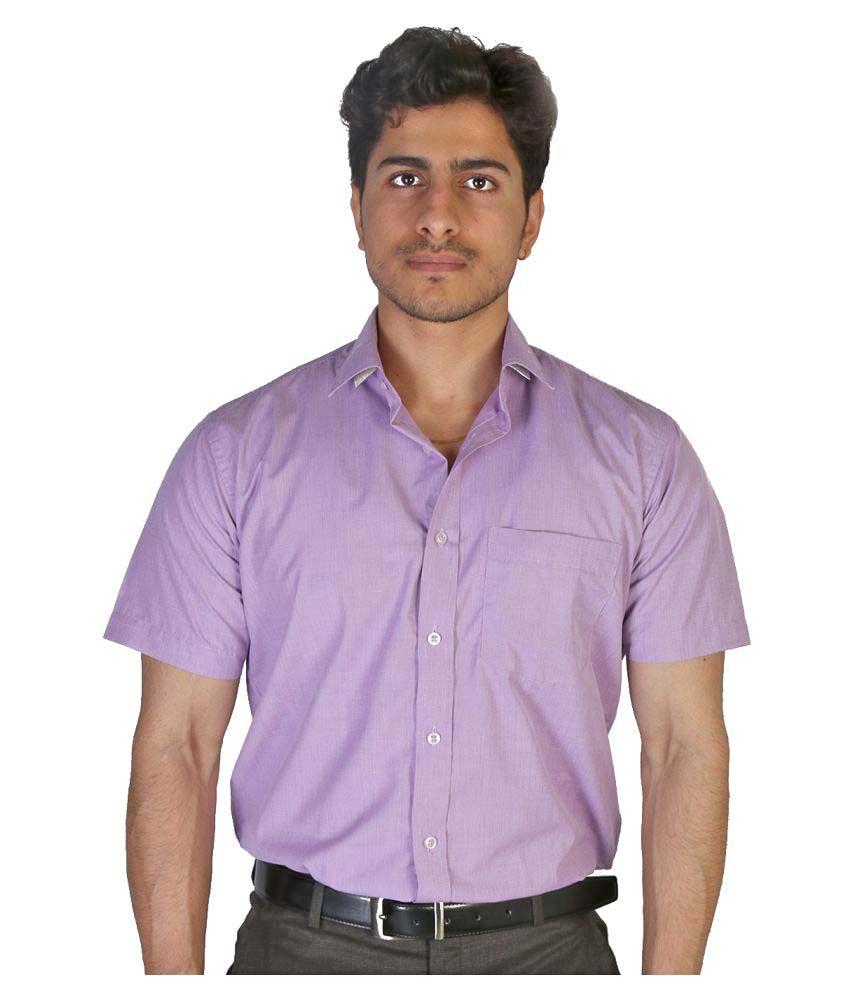 Elbrus Purple Formal Slim Fit Shirt