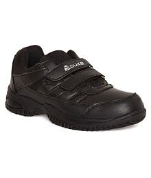 Duke Unisex Black Synthetic School Shoes