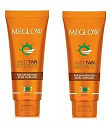 Meglow Anti Tan Face Pack Cream 70 Gm Pack Of 2