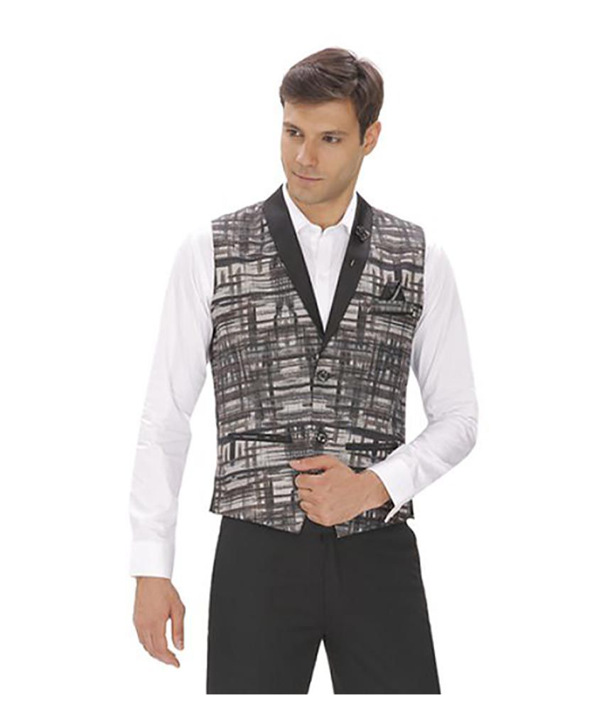 Amador Fashions Multi Printed Party Waistcoats