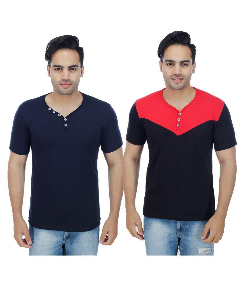 Rakshita's Collection Multi Henley T-Shirt