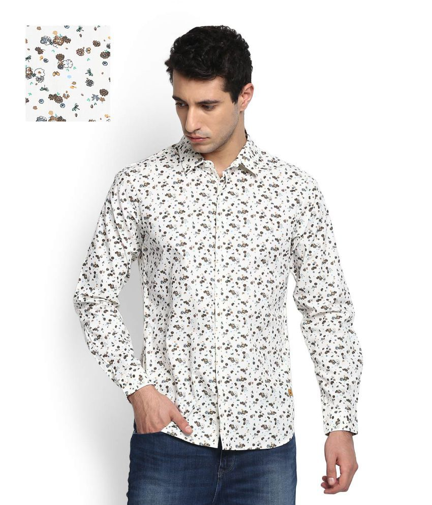 United Colors of Benetton White Casual Regular Fit Shirt