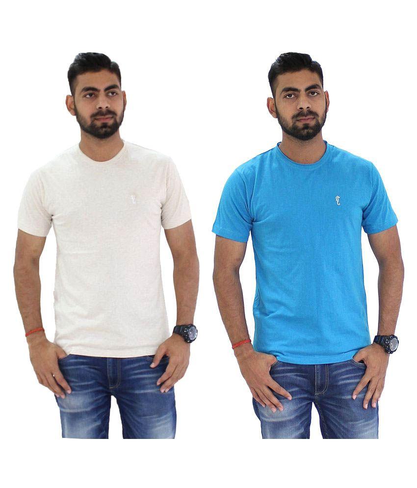 Portobello Multi Round T-Shirt Pack of 2