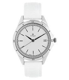 Titan Silver White Dial Analog Watch For Women