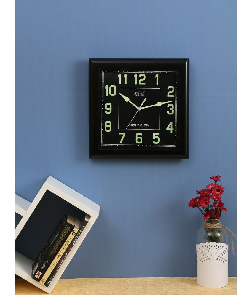 Safal square analog wall clock sqng 102 29 pack of 1 buy safal safal square analog wall clock sqng 102 29 pack of 1 amipublicfo Gallery