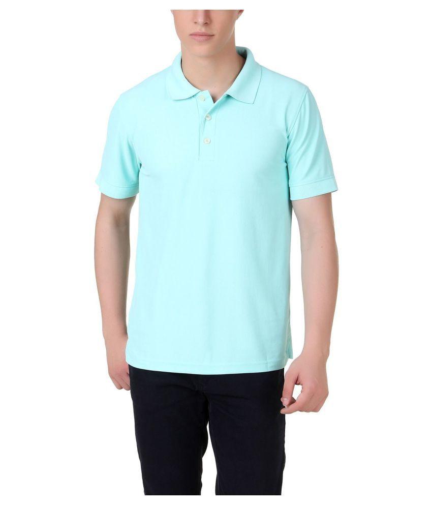 M.V. Tees Blue Cotton Polo T-Shirt