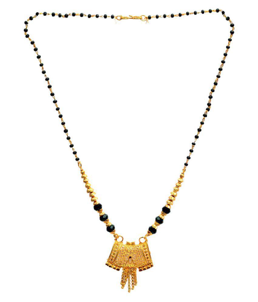 Mansiyaorange Designer Traditional Golden Mangalsutra For Women