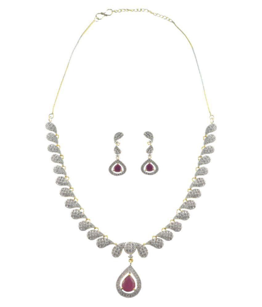 Rejewel Multicolour Alloy Necklace Set