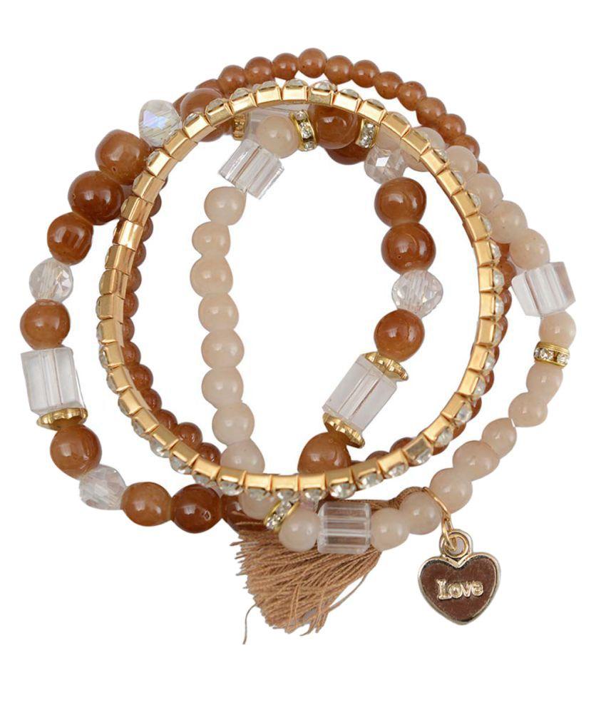 Taj Pearl Designer Multicolor Adjustable bracelets