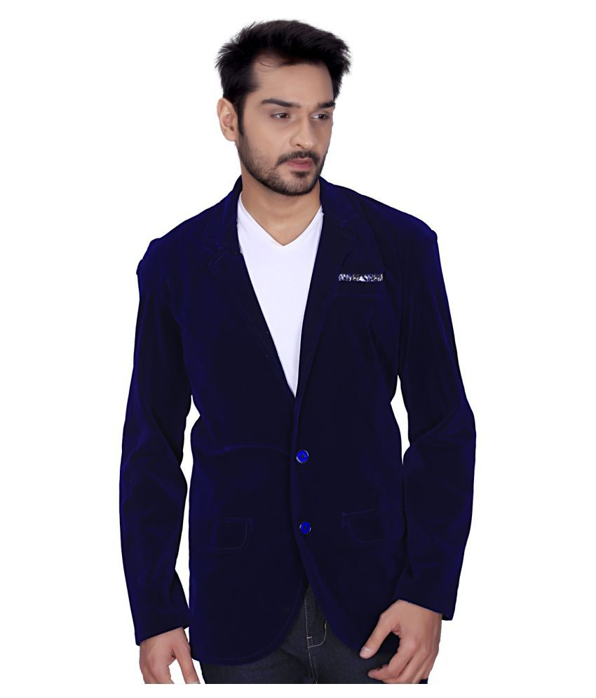 Shree Ganesha Enterprises Blue Solid Party Blazers