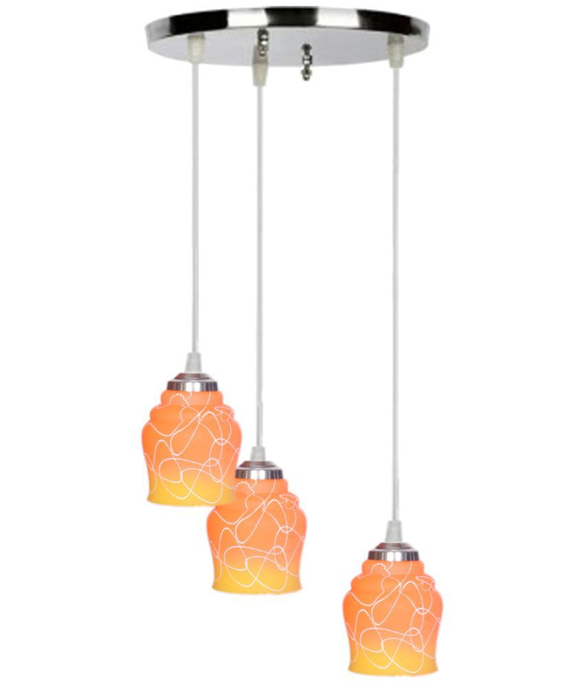 Somil Glass Exclusive Pendant Orange - Pack of 1