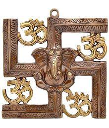 Decorate India Aluminium Wall Sculpture Brown - Pack Of 1