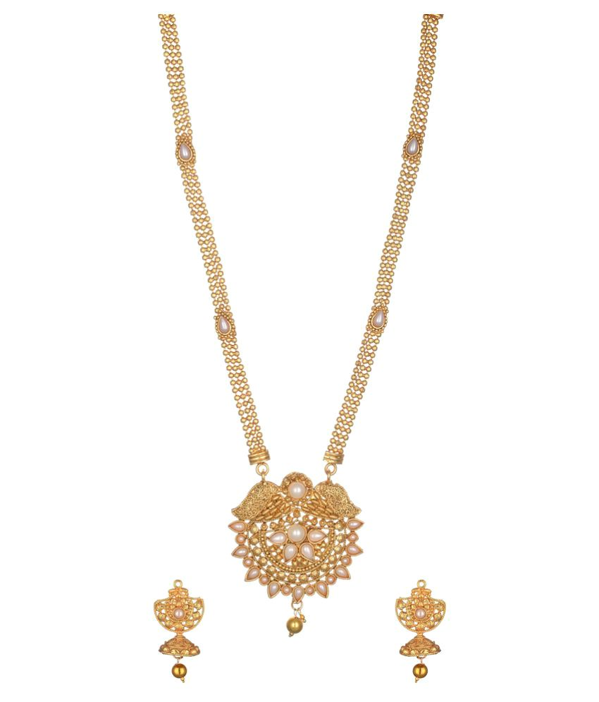 Reeti Fashions - Elegant Pearl Embellished Long Necklace set