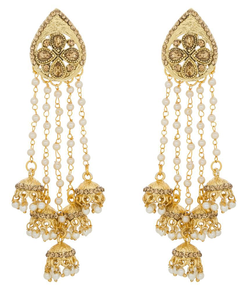The Luxor Beautiful Golden Jhumki Tel Earrings