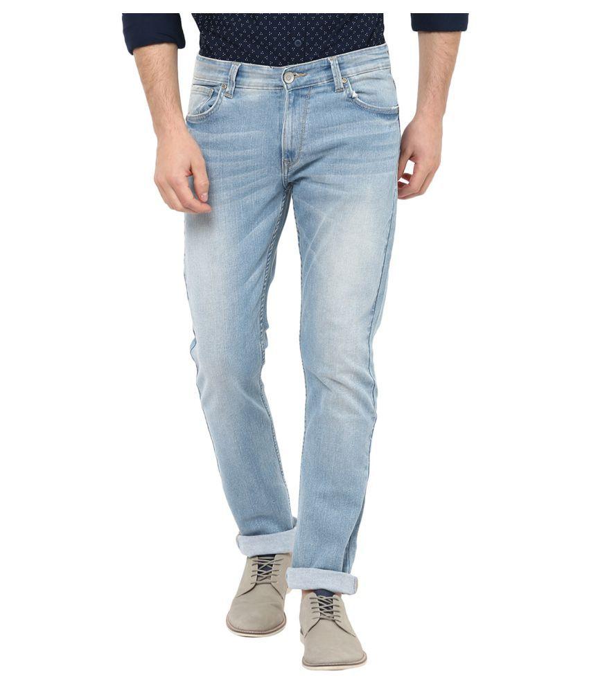 Spykar Blue Straight Jeans