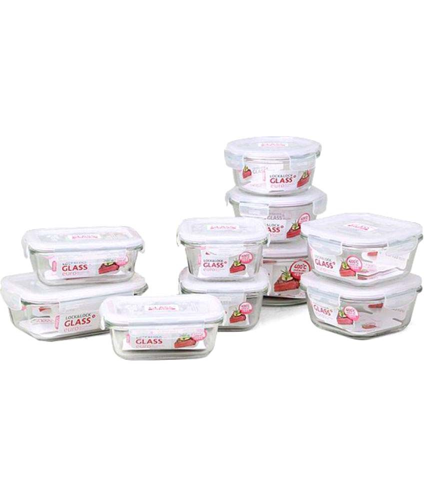 Lock & Lock Glass Food Container Set of 10