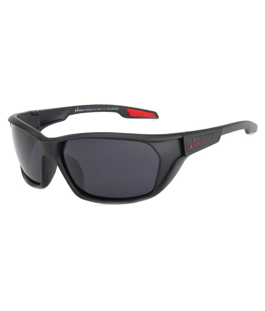 Velocity Black Square Sunglasses ( 89086 )