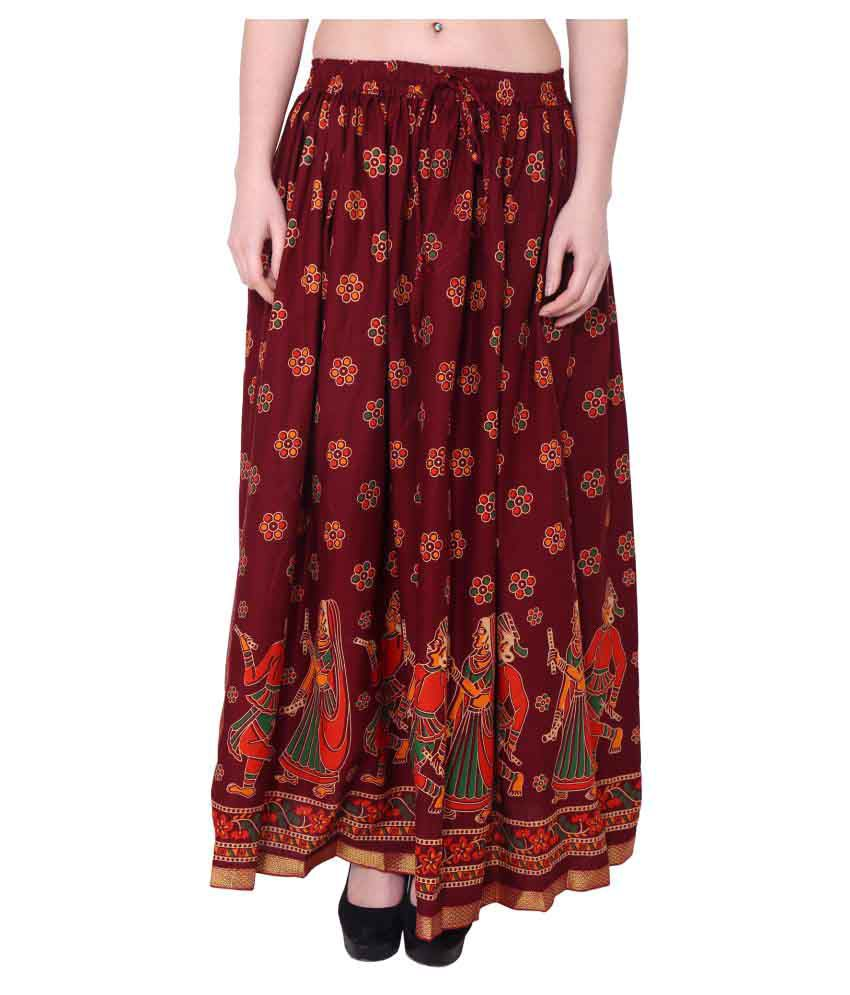 52ac280d5393 Buy Magnus Cotton Circle Skirt Online at Best Prices in India - Snapdeal
