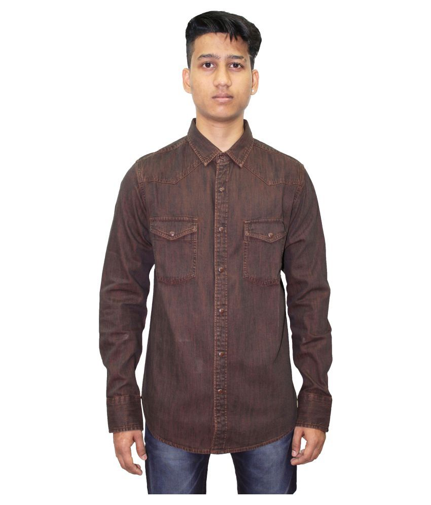 Southbay Brown Casual Slim Fit Shirt