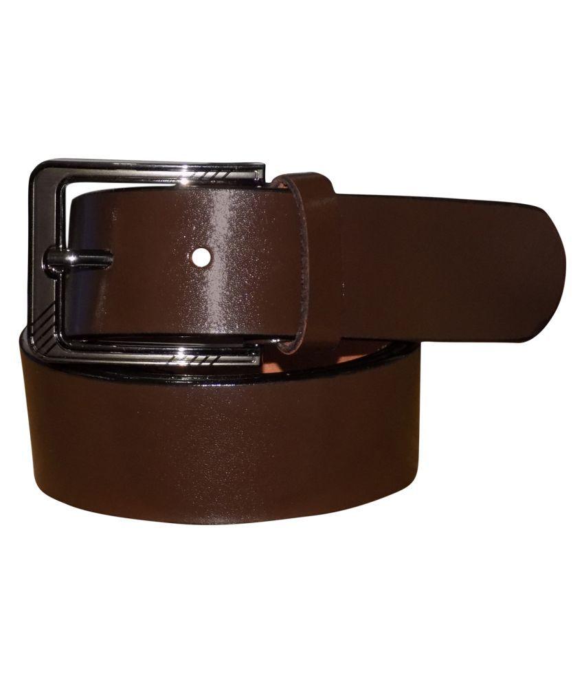 Kan Brown Leather Formal Belts