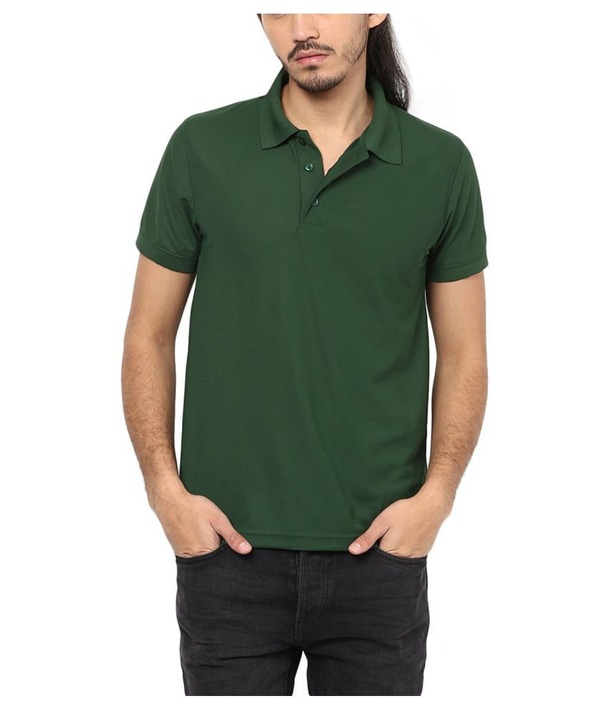 M.V. Tees Dark Green Cotton Polo T-Shirt