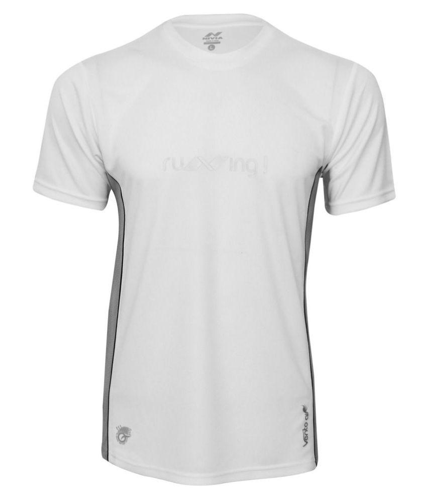 NIVIA OXY -2 FITNESS TEE ( White)