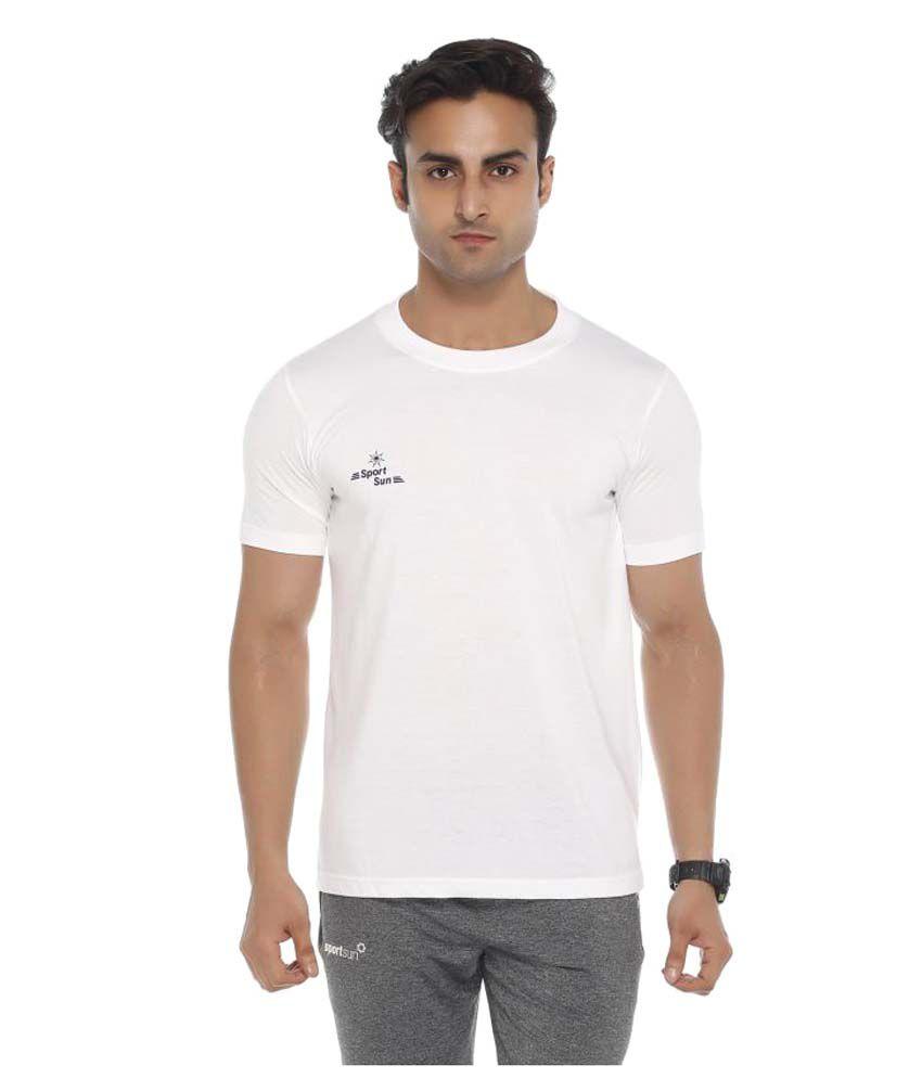 Sport Sun White Round T-Shirt