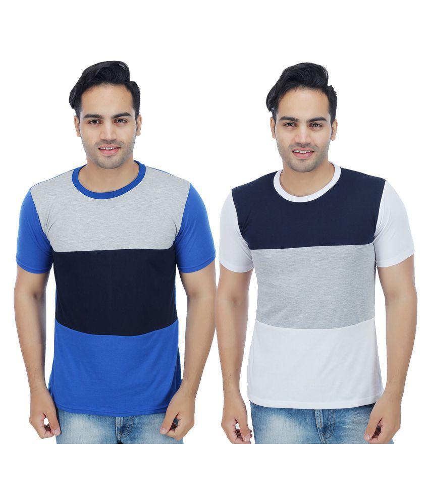 Christy World Multi Round T-Shirt Pack of 2