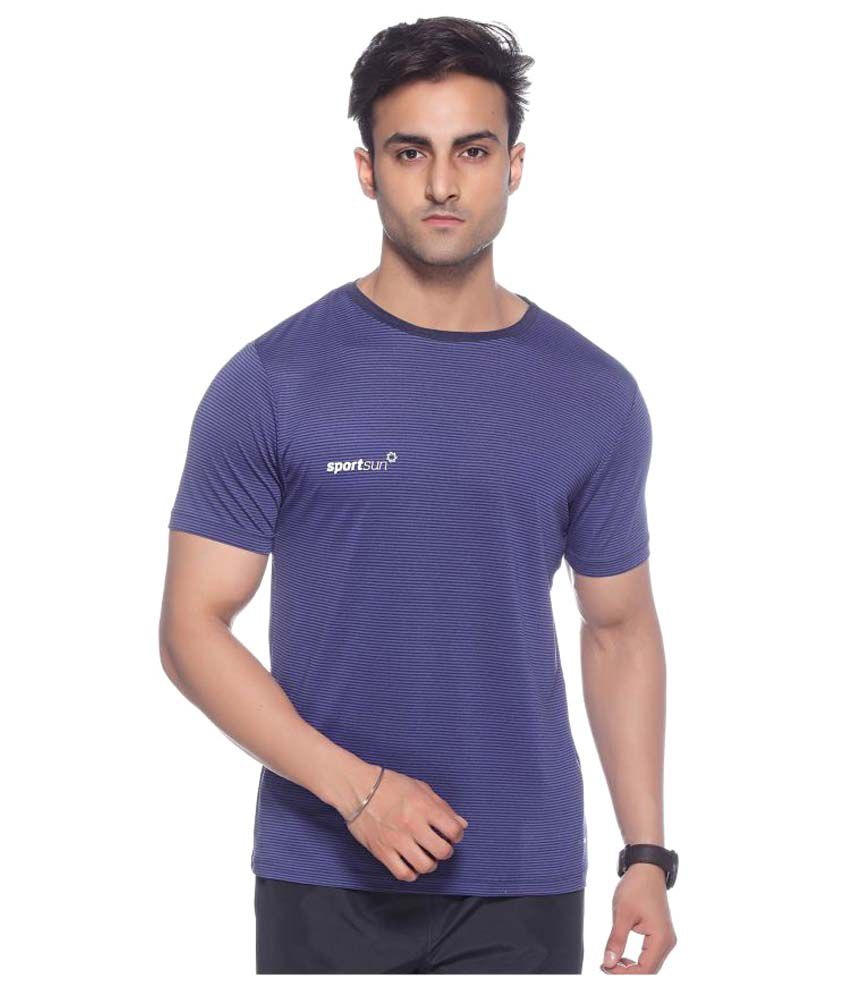 Sport Sun Purple Round T-Shirt
