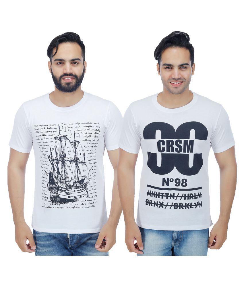 Christy World White Round T-Shirt Pack of 2