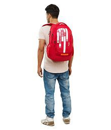 Skybags Branded Backpack Laptop Bags College Bags School Bags red lazer 01