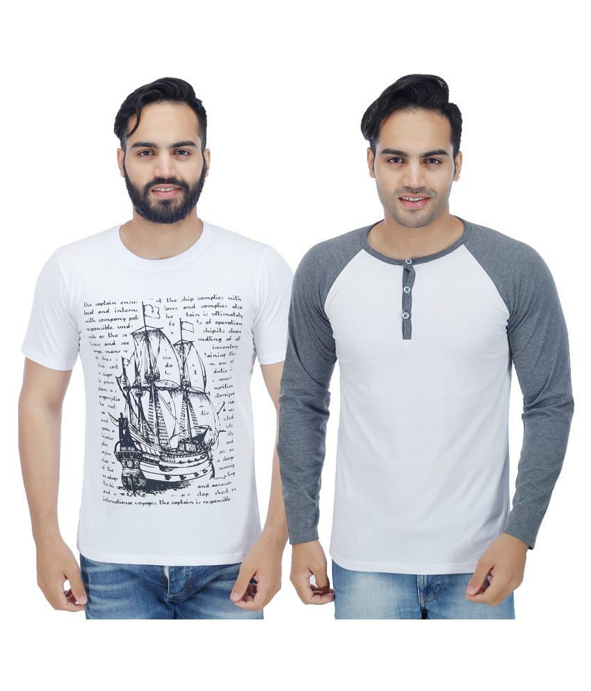 Christy's Collection White Round T-Shirt Pack of 2